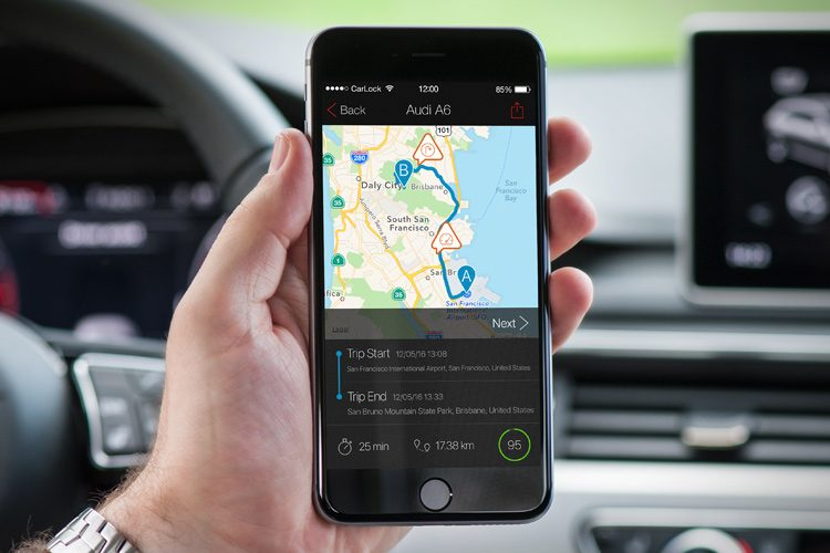 CarLock App 3.0 Trip Details