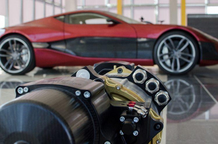 Rimac Concept One rear drive train