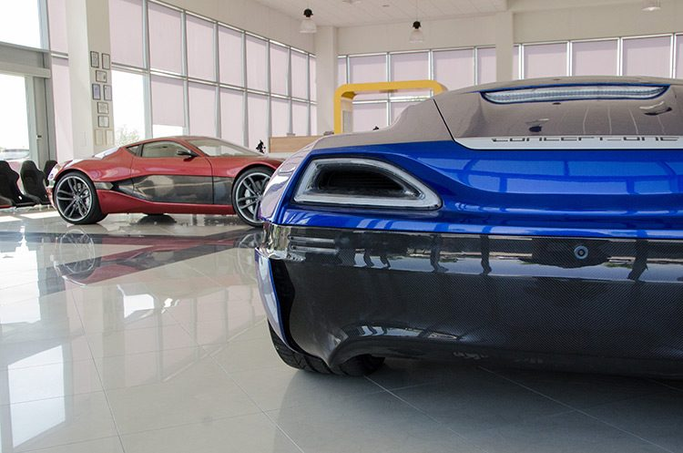 Rimac Concept One in the showroom