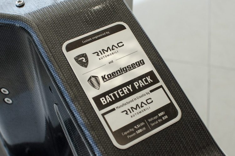Koenigsegg Regera battery pack