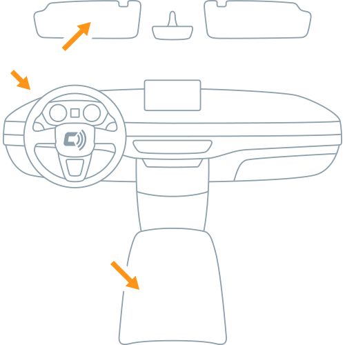 Suggested CarLock Tag Placement
