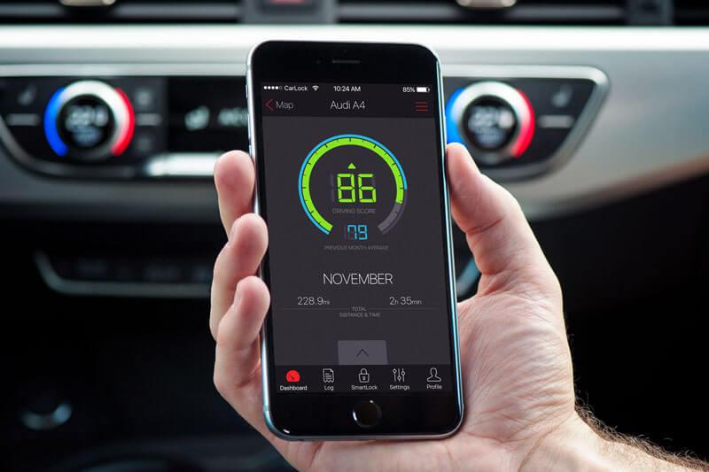 CarLock GPS car tracker - Driving monitoring functionality